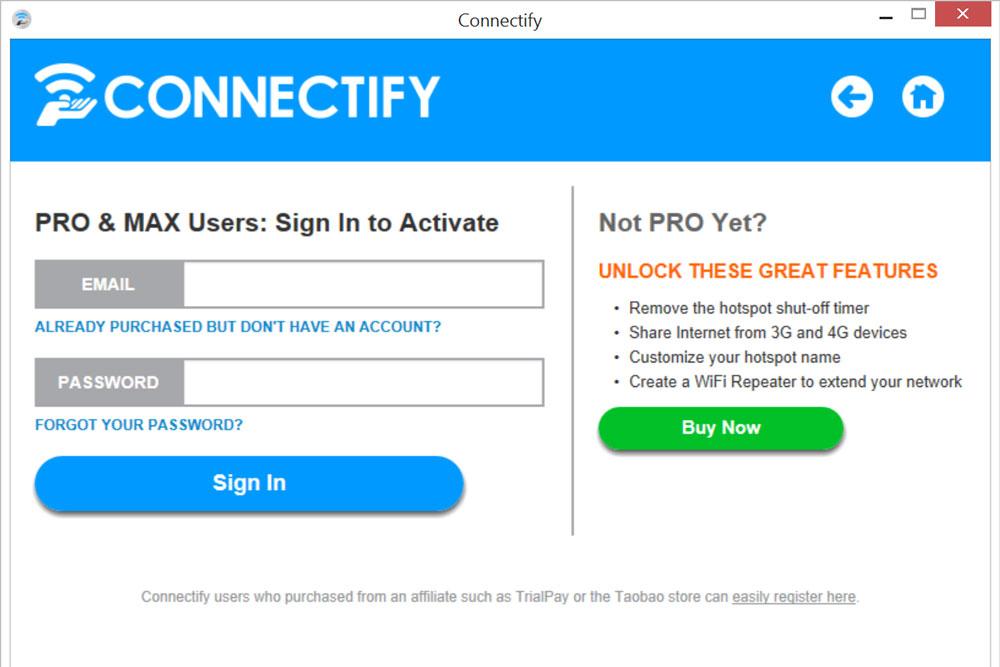 Программа Connectify Hotspot