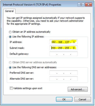 Настройка протокола интернета