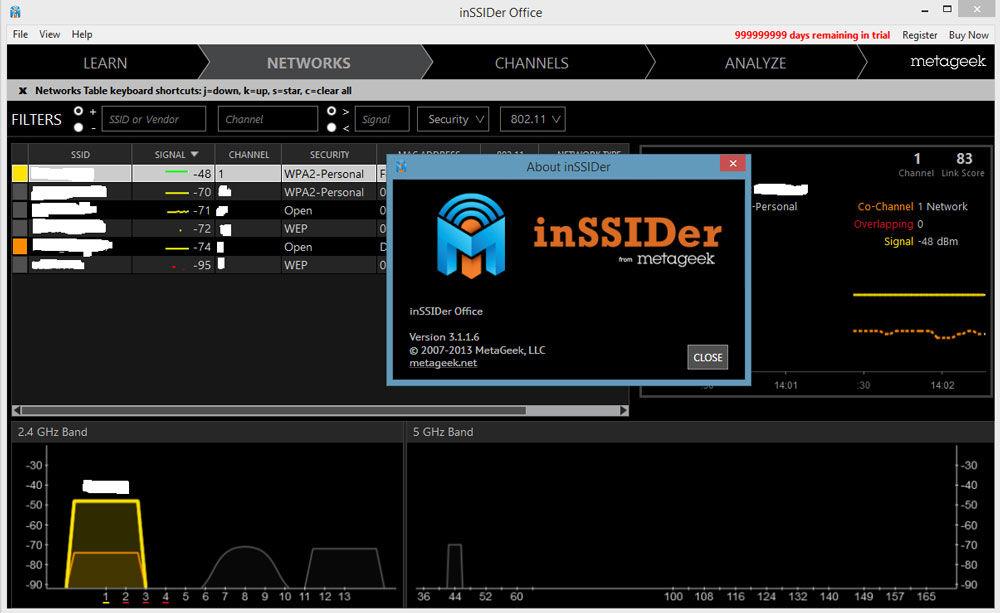 Обзор программы inSSIDer