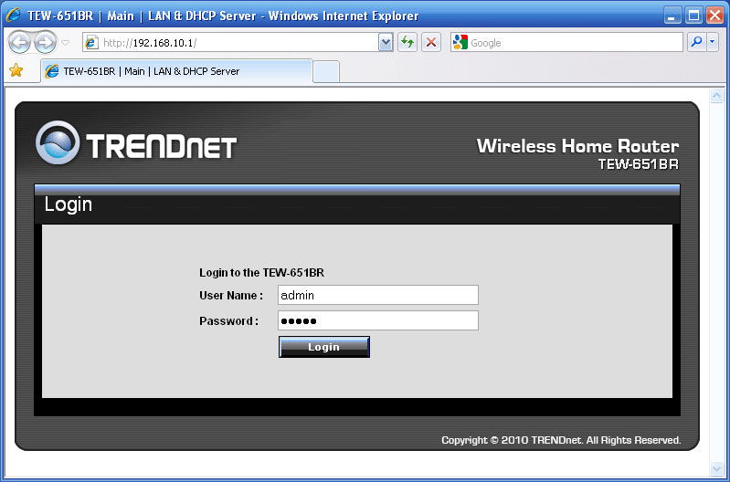Авторизация для доступа к веб-интерфейсу