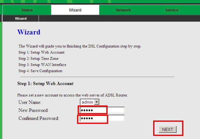 Смена пароля доступа к настройкам