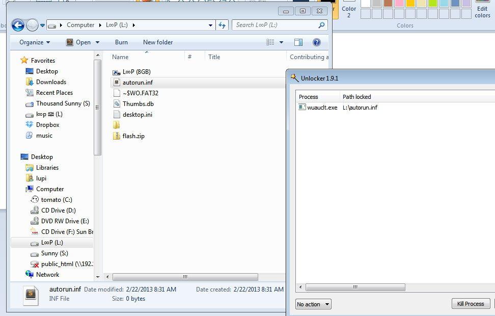 Удаление вредоносного файла autoran.inf
