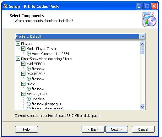 Установка кодеков для Windows