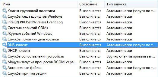 Активация служб Windows