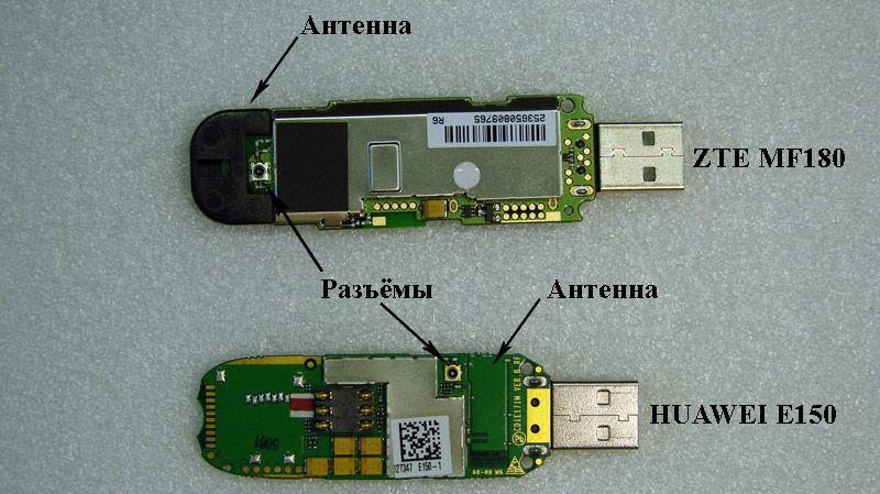 Мобильный модем в разобранном виде