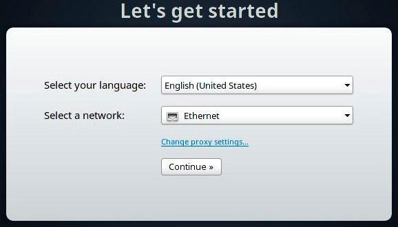 Параметры подключения к интернету