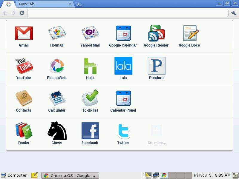 Работа Chrome OS через браузер