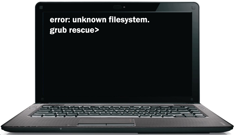 Ошибка: Unknown Filesystem