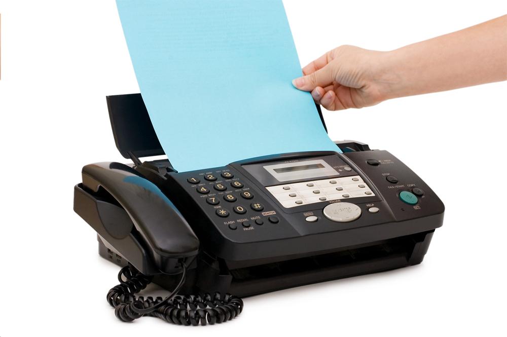 Отправка документа факсом