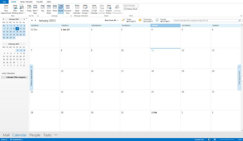 Календарь Outlook