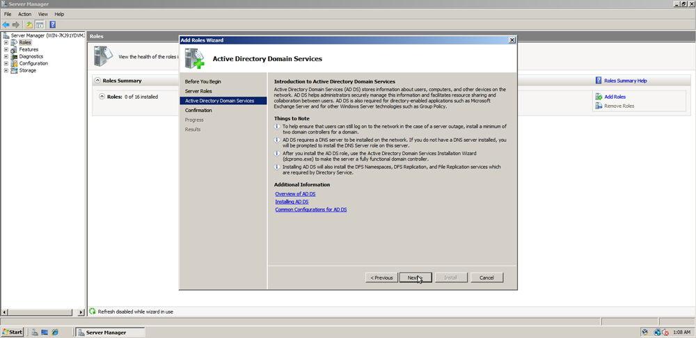 Установка Active Directory на Windows скриншот