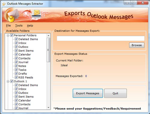 Microsoft Outlook Message Export