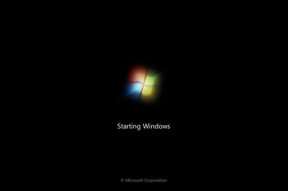 Запуск Windows 7