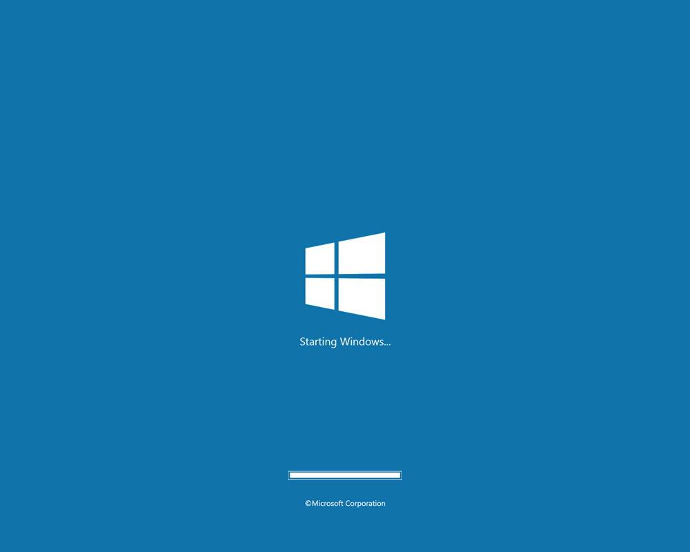 Windows 8 загрузка