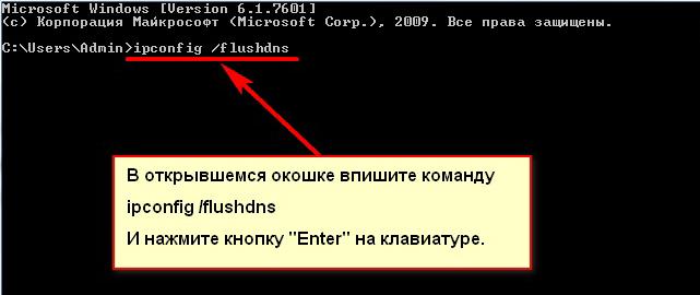 Команда ipconfig /flushdns