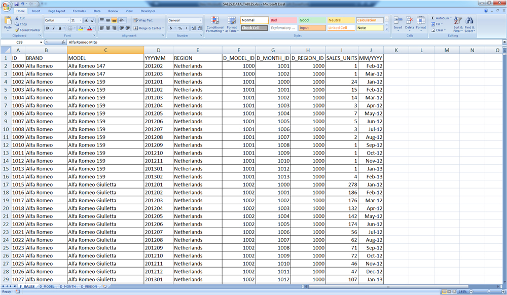 Скриншот Microsoft Excel