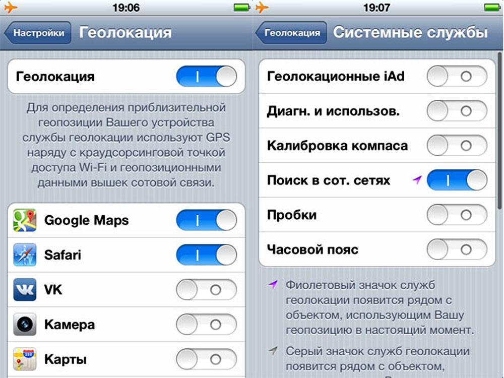 Список приложений Iphone с геолокацией