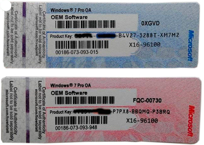 Стикеры с OEM-кодом активации