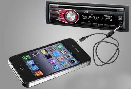 iPhone AUX магнитола