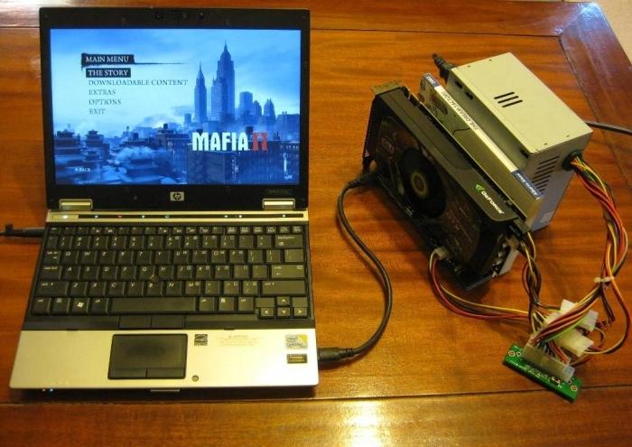 ноутбук внешняя видеокарта