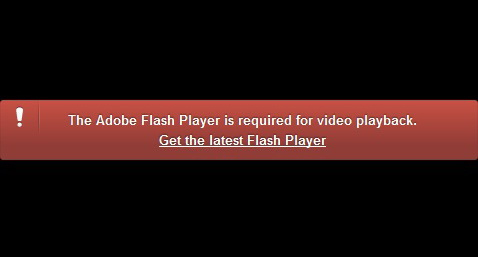Обновите Flash плеер