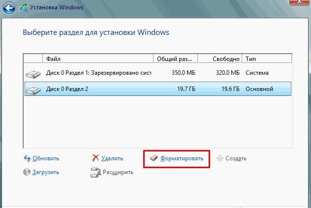 Очистка диска Windows