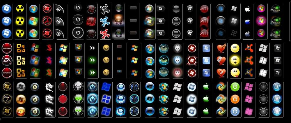 Кнопки Пуск для Windows 7