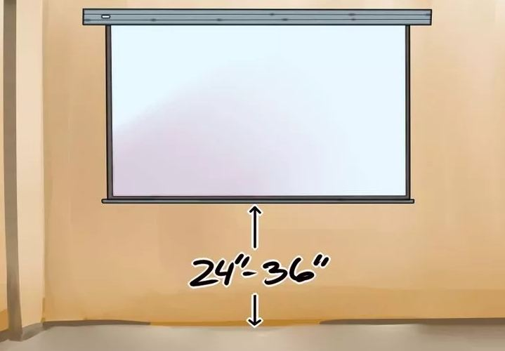 Расстояние от пола до экрана проектора