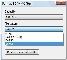 ExFAT - оптимальная файловая система для смартфона