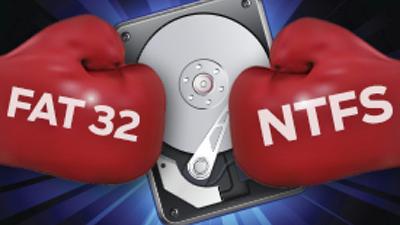 Противостояние Fat32 и NTFS