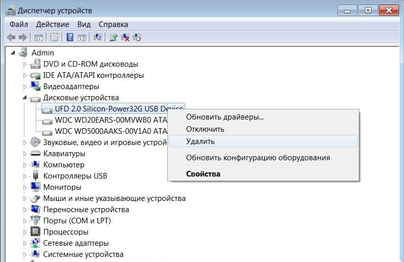 Дисковые устройства Windows