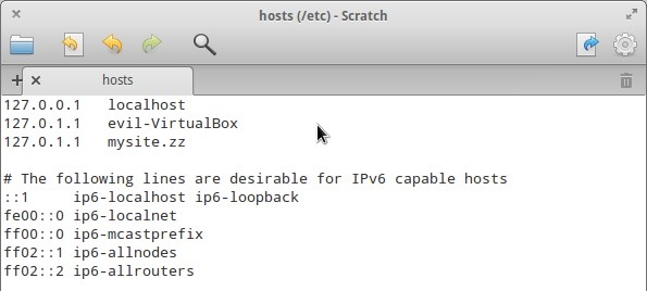 Редактирование hosts