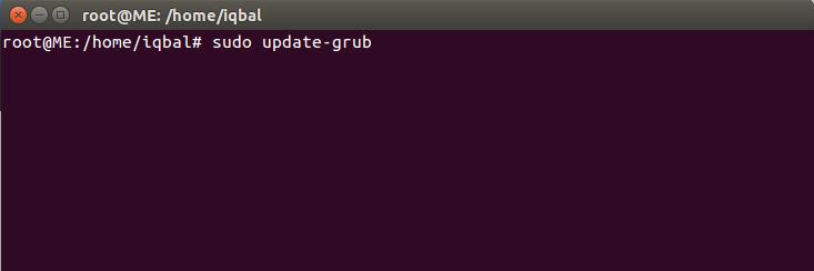 Команда sudo update-grub
