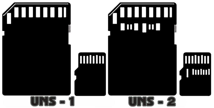Отличия междуUHS-1 иUHS-2