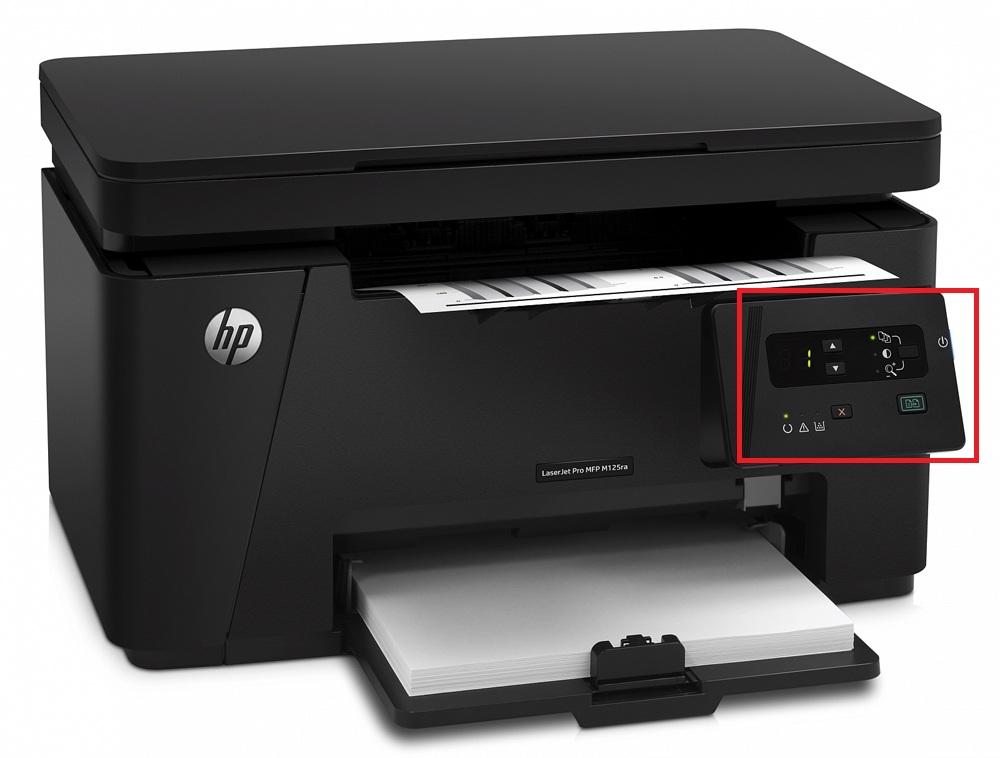 Индикатор управления HP LaserJet Pro MFP M125ra