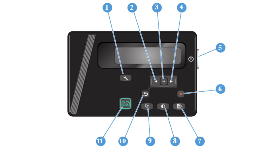Панель управления HP Laser Jet