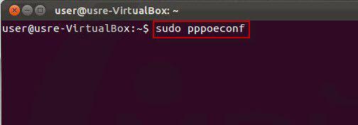 Команда sudo pppoeconf