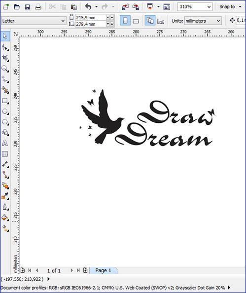 Пример логотипа с текстом