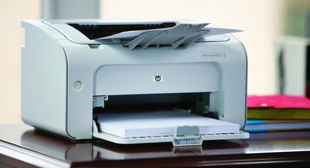 Печать на HP LaserJet P1005