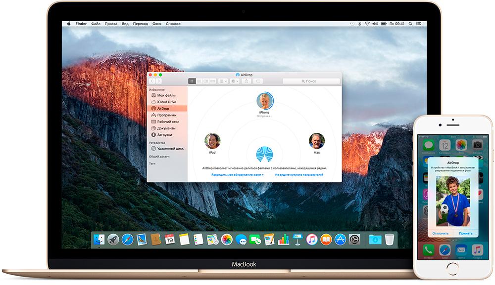 iPhone MacBook Airdrop