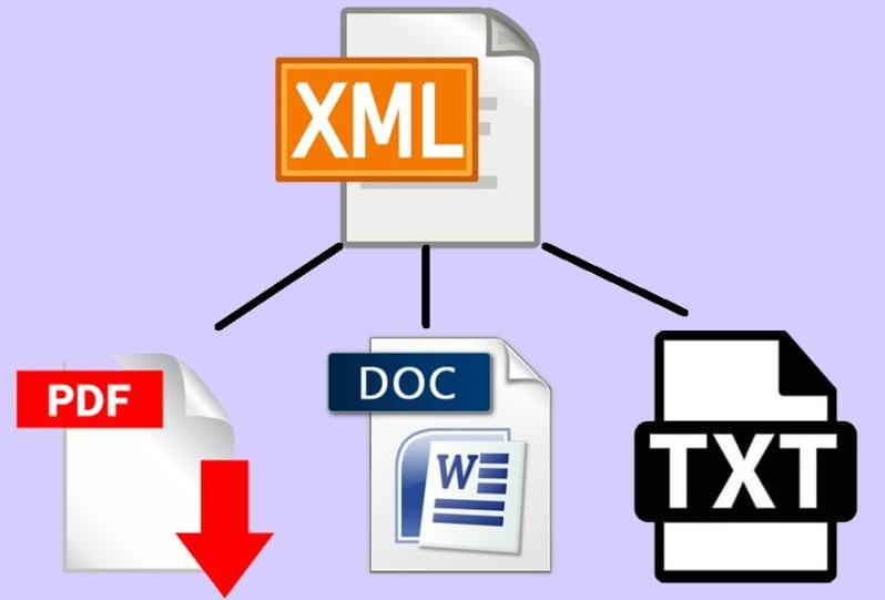 Конвертация XML в PDF, TXT или DOC
