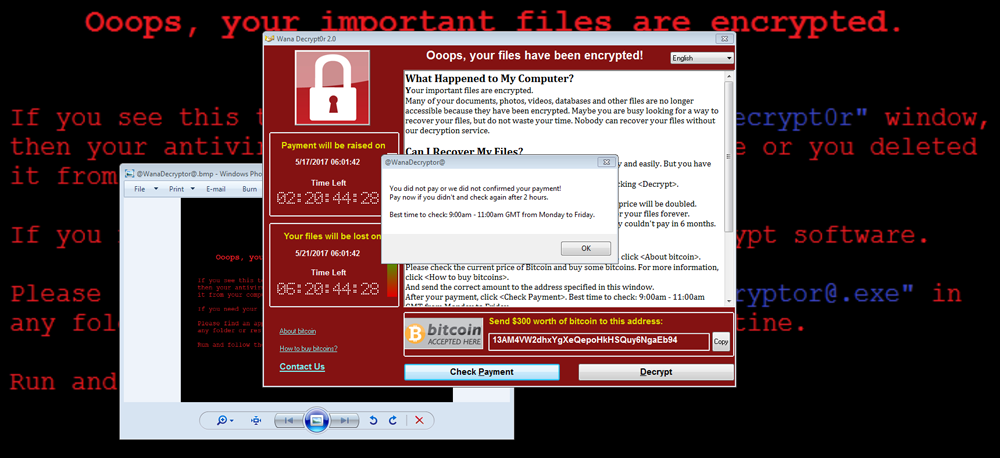 Ooops, your files have been encrypted!