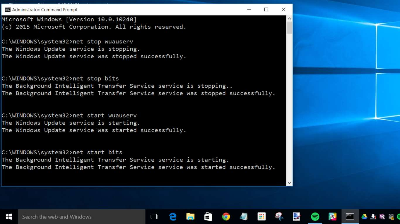 Остановка работы обновлений Windows 10