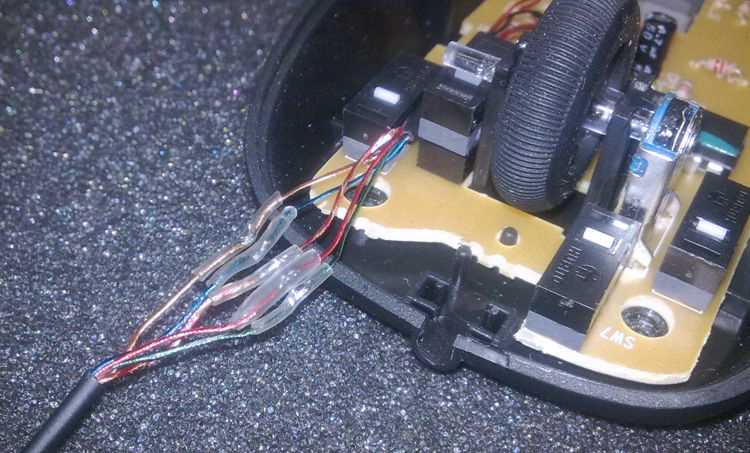 Ремонт провода мыши