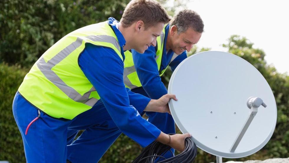 Установка спутниковой тарелки МТС