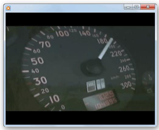 Проигрывание ролика в программе Windows Media