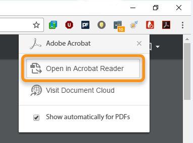 Открыть файл в Acrobat Reader
