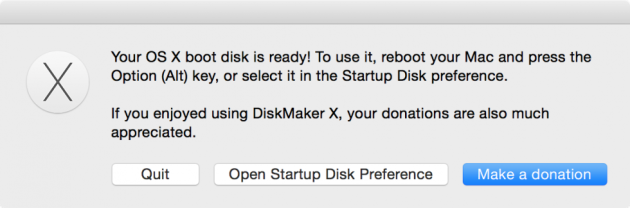 Open startup disk preference
