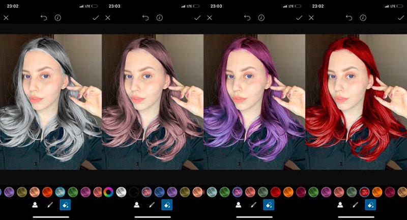 Замена цвета волос