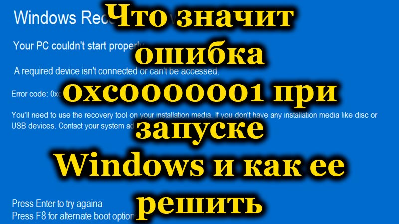 Что значит ошибка 0xc0000001 при запуске Windows и как ее решить